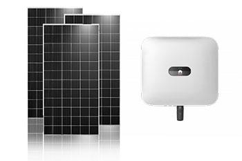 2 kW Huawei inverter + 7 db Jinko Solar 325 Wp napelem csomag